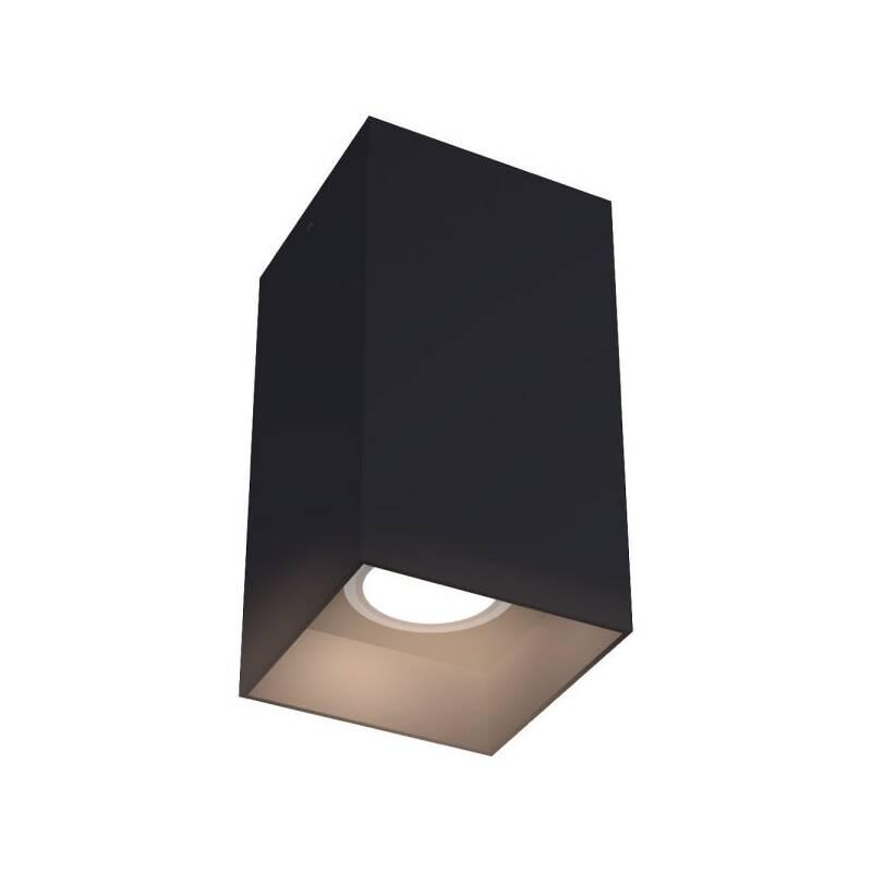 Deckenleuchte eckig schwarz GU10 230V 80x150mm Anbauleuchte quadrat