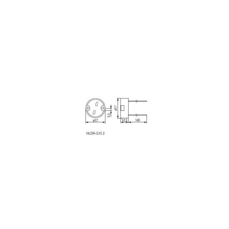 keramik fassung gu5 3 gx5 3 24v mit 15cm anschlusskabel 1 49. Black Bedroom Furniture Sets. Home Design Ideas