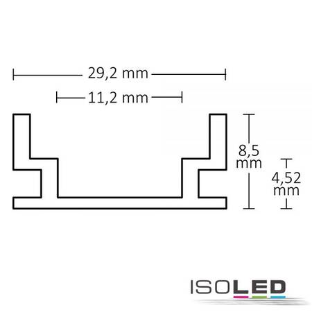 LED Montageprofil GROUND-IN10 begehbar Alu Natur 200cm