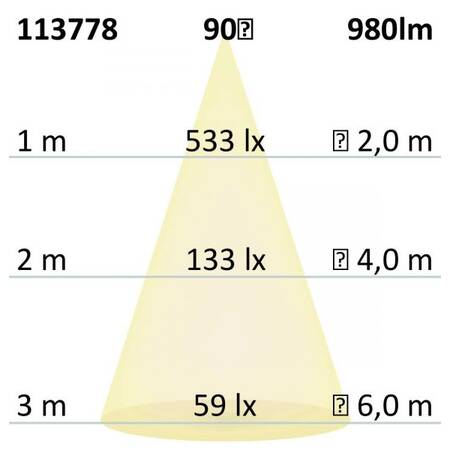 LED Downlight Prism 10W UGR<19 IP54 warmweiß dimmbar EEK: A+